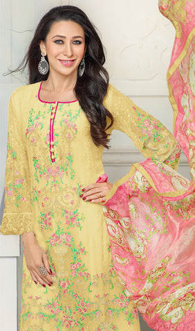 The Karishma Kapoor Collection:atisundar splendid Yellow Designer Straight Cut  - 9797 - atisundar - 2