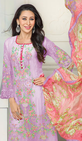 The Karishma Kapoor Collection:atisundar enticing Purple Designer Straight Cut  - 9800 - atisundar - 2