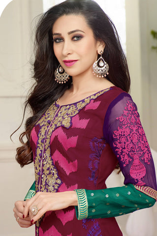 The karishma Kapoor Collection!:atisundar angelic Multi Designer Straight Cut  - 7868 - atisundar - 3