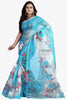 Designer Party wear Saree:atisundar angelic Designer Printed Party Wear Saree in Supernet in Sky Blue  - 11510 - atisundar - 1 - click to zoom