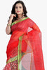 Designer Party wear Saree:atisundar admirable Designer Printed Party Wear Saree in Supernet in Red  - 11512 - atisundar - 2 - click to zoom
