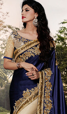 Designer Saree:atisundar exquisite Designer Embroidered Saree in Blue  - 10412 - atisundar - 2