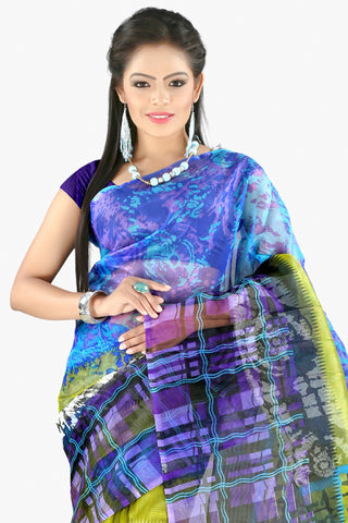 Designer Party wear Saree:atisundar magnificent Designer Printed Party Wear Saree in Supernet in Multi  - 11516 - atisundar - 2