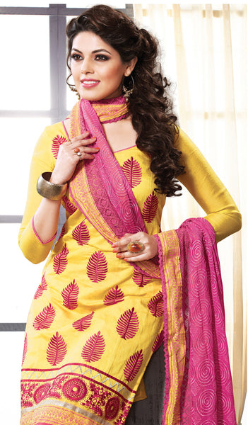 Designer Straight Cut:atisundar dazzling Yellow Straight Cut Designer Wear - 6027 - atisundar - 4 - click to zoom