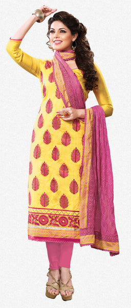 Designer Straight Cut:atisundar dazzling Yellow Straight Cut Designer Wear - 6027 - atisundar - 2 - click to zoom