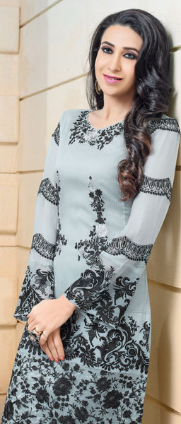 The karishma Kapoor Collection:atisundar lovely Gray Designer Straight Cut  - 8308 - click to zoom
