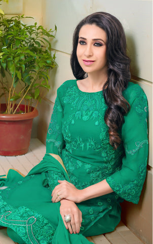 The karishma Kapoor Collection:atisundar enticing Green Designer Straight Cut  - 8312 - atisundar - 2