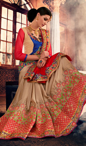 Designer Saree:atisundar angelic Designer Party Wear Sarees in Beige  - 10336 - atisundar - 2