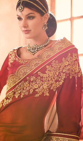 Designer Saree:atisundar admirable Designer Party Wear Sarees in Beige  - 10342 - atisundar - 2