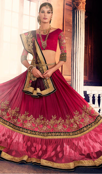 Designer Saree:atisundar bewitching Designer Party Wear Sarees in Pink  - 10345 - atisundar - 2 - click to zoom