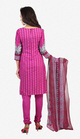 Designer Printed Unstitched Suits In American Crepe:atisundar angelic Pink Designer Printed Unstitched Suits - 6655 - atisundar - 4