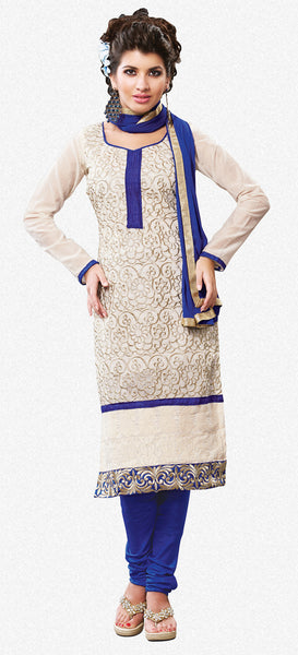 Designer Straight Cut:atisundar superb Off White Straight Cut Designer Wear - 6036 - atisundar - 2 - click to zoom