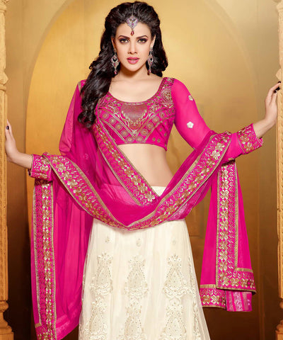 Designer Embroidered Anarkali:atisundar beauteous Pink And White embroidered Party Wear Anarkali - 6687 - atisundar - 5