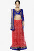 Designer Embroidered Anarkali:atisundar wonderful Blue And Red embroidered Party Wear Anarkali - 6689 - click to zoom