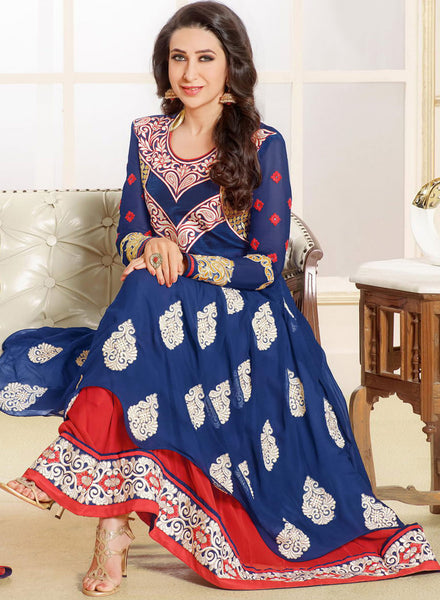 The Karishma Kapoor Collection:atisundar excellent Blue embroidered Party Wear Anarkali - 6789 - atisundar - 5 - click to zoom