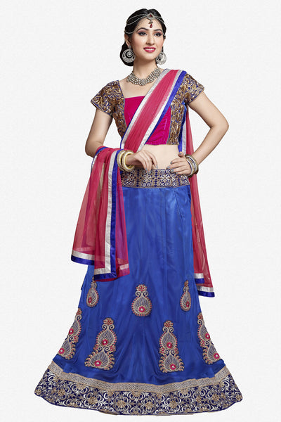 Designer Lehenga:atisundar enticing Velvet  Designer Party Wear Lehenga in Pink - 11841 - atisundar - 1 - click to zoom