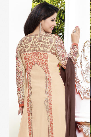 Designer Straight Cut:atisundar comely Orange Designer Straight Cut  - 11869 - atisundar - 4