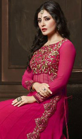 The Rimi Sen Collection:atisundar appealing Pink Designer Embroidered Anarkali - 8918 - atisundar - 4
