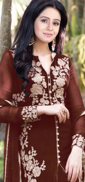 Designer Straight Cut!:atisundar refined Brown Designer Straight Cut  - 7623 - atisundar - 3 - click to zoom