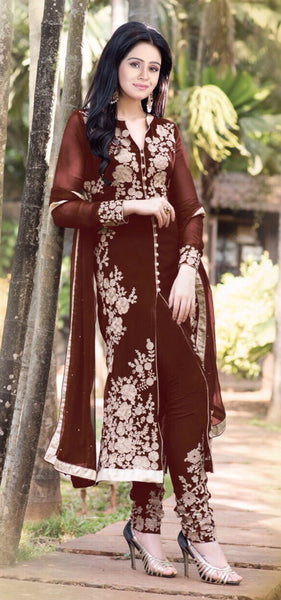 Designer Straight Cut!:atisundar refined Brown Designer Straight Cut  - 7623 - atisundar - 2 - click to zoom