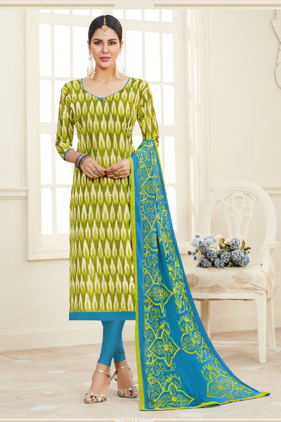 Designer Printed Straight Cut Suits With Mirror Work:atisundar delicate Green Designer Embroidered Party Wear Straight Cut - 14636 - click to zoom