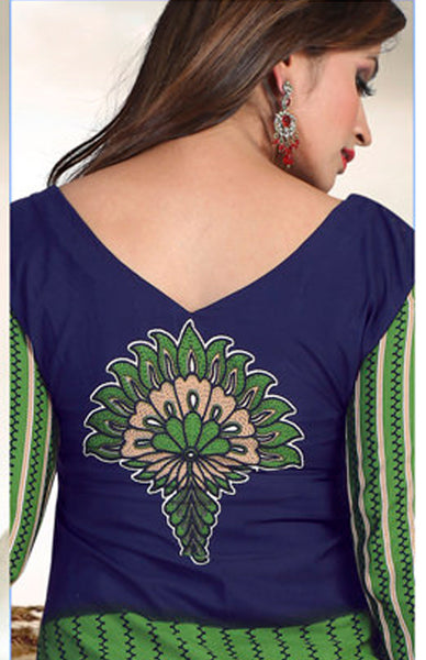 Designer Printed Unstitched Suits:atisundar Smart   in Green And Purple - 5665 - atisundar - 3 - click to zoom