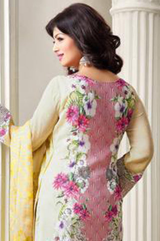 Designer Embroidered Straight Cut Suit:atisundar resplendent Yellow Designer Straight Cut Embroidered Suits - 8954