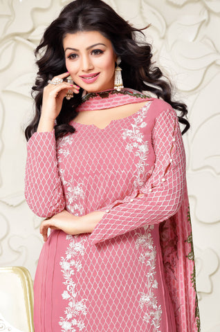 Designer Embroidered Straight Cut Suit:atisundar elegant Pink Designer Straight Cut Embroidered Suits - 8959 - atisundar - 3 - click to zoom