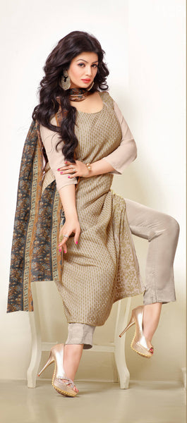Designer Embroidered Straight Cut Suit:atisundar charming Beige Designer Straight Cut Embroidered Suits - 8960 - atisundar - 3 - click to zoom