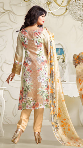 Designer Embroidered Straight Cut Suit:atisundar Superb Cream Designer Straight Cut Embroidered Suits - 8962 - atisundar - 3 - click to zoom