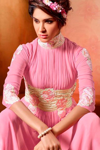 Designer Tops:atisundar wonderful Faux Georgette Designer Tops in Pink - 9351
