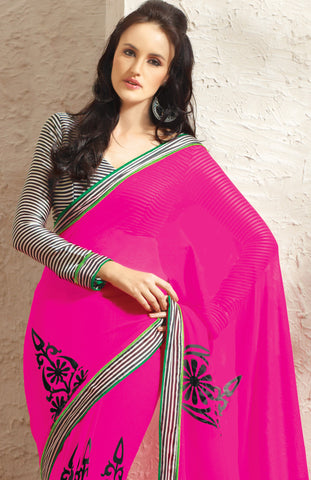 atisundar Cute Pink Colored Saree - atisundar - 4