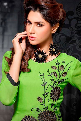 Designer Tops:atisundar splendid Faux Georgette Designer Tops in Green - 9353