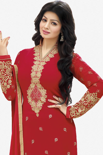 Designer Straight Cut:atisundar fair Red Designer Straight Cut  - 11872 - atisundar - 2 - click to zoom