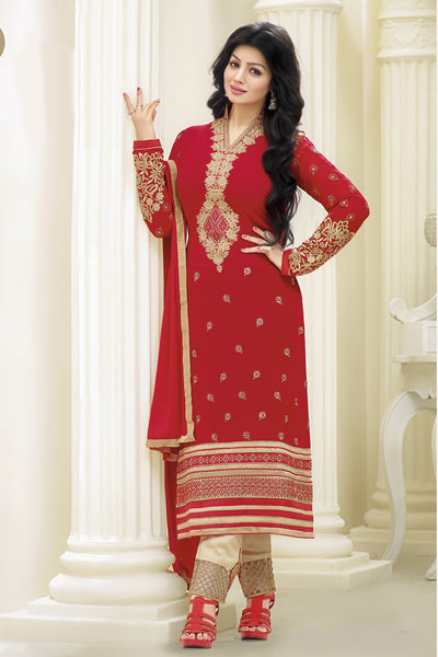 Designer Straight Cut:atisundar fair Red Designer Straight Cut  - 11872 - atisundar - 4 - click to zoom