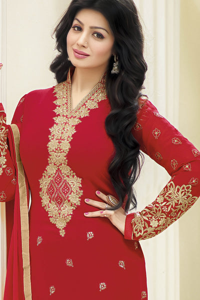 Designer Straight Cut:atisundar fair Red Designer Straight Cut  - 11872 - atisundar - 5 - click to zoom