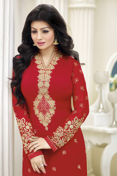 Designer Straight Cut:atisundar fair Red Designer Straight Cut  - 11872 - atisundar - 6 - click to zoom