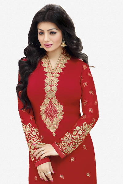 Designer Straight Cut:atisundar fair Red Designer Straight Cut  - 11872 - atisundar - 3 - click to zoom