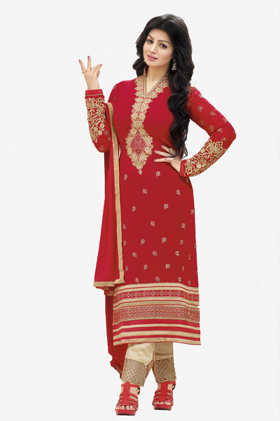 Designer Straight Cut:atisundar fair Red Designer Straight Cut  - 11872 - atisundar - 1 - click to zoom