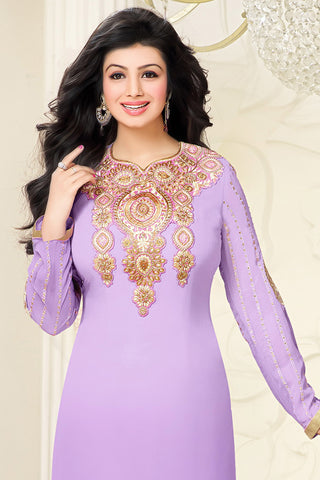 Designer Straight Cut:atisundar splendid Purple Designer Embroidered Straight Cut - 10599 - atisundar - 2