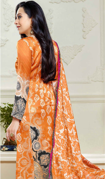 The Karishma Kapoor Collection:atisundar comely Orange Designer Straight Cut  - 9864 - click to zoom