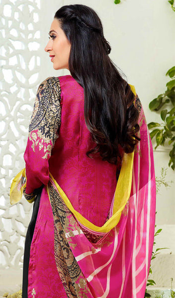 The Karishma Kapoor Collection:atisundar elegant Black And Pink Designer Straight Cut  - 9866 - click to zoom