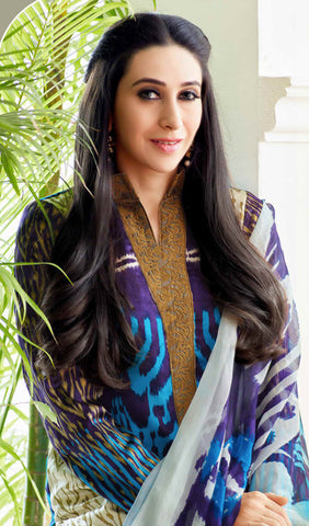 The Karishma Kapoor Collection:atisundar splendid Blue And Purple Designer Straight Cut  - 9870 - atisundar - 3