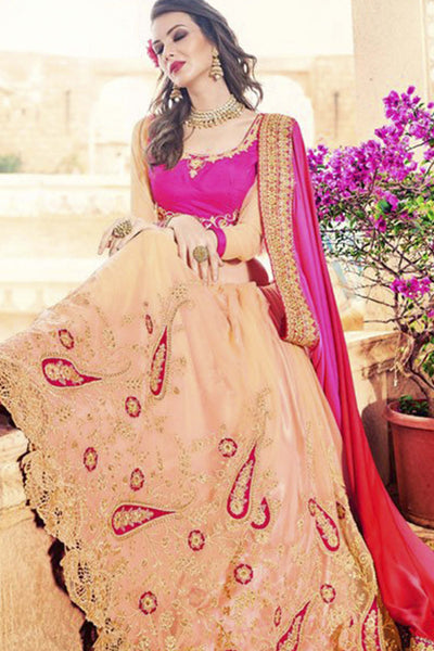Designer Party Wear Saree:atisundar beauteous Embroidered Partywear Saree with Embroidered Blouse in Pink  - 10364 - atisundar - 2 - click to zoom