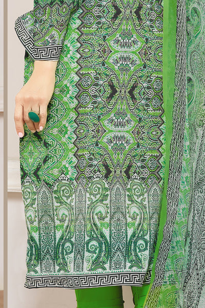 Designer Straight Cut:atisundar Superb Green Designer Embroidered Straight Cut - 10622 - click to zoom