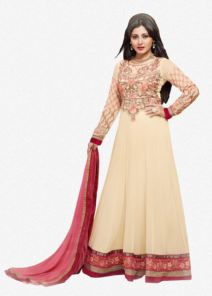The Rimisen Collection:atisundar Charismatic Off White Designer Embroidered Party Wear Ready to Stitch Anarkali - 6407 - atisundar - 1 - click to zoom