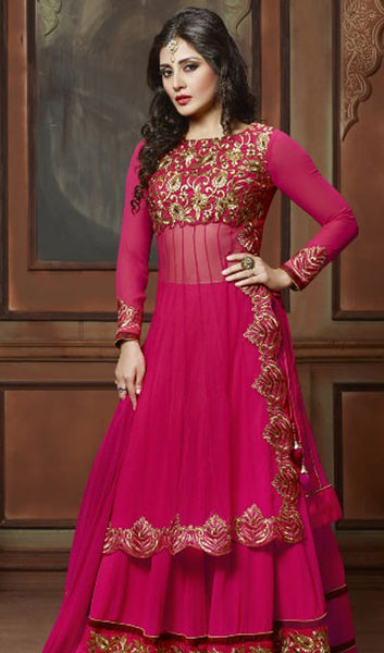 The Rimi Sen Collection:atisundar appealing Pink Designer Embroidered Anarkali - 8918 - atisundar - 1 - click to zoom