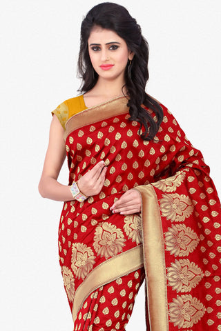 Designer Saree:atisundar divine Designer Party Wear Saree in Red  - 12790