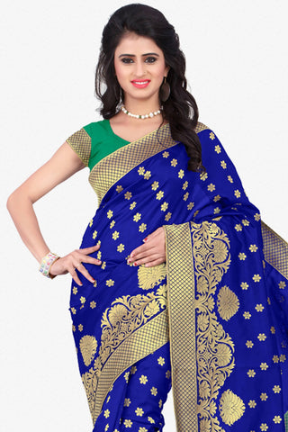 Designer Saree:atisundar Superb Designer Party Wear Saree in Blue  - 12791