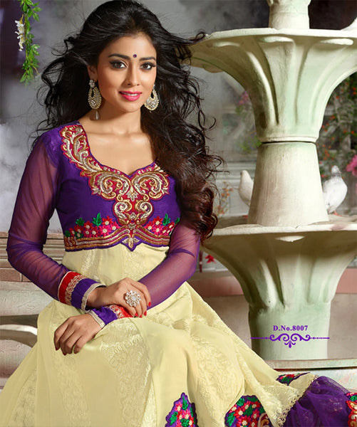 Shriya:atisundar splendid   in Purple And Cream - 4959 - atisundar - 3 - click to zoom
